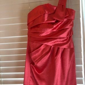 Phoebe Couture Dresses - Coral Cocktail Dress size 6 Great Condition!!